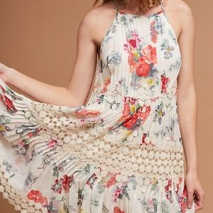 Anthro Ranna Gill Kalila Floral Lace Tiered Dress